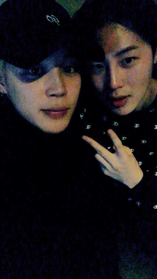 Jimin BTS dan Ha Sungwoon.
