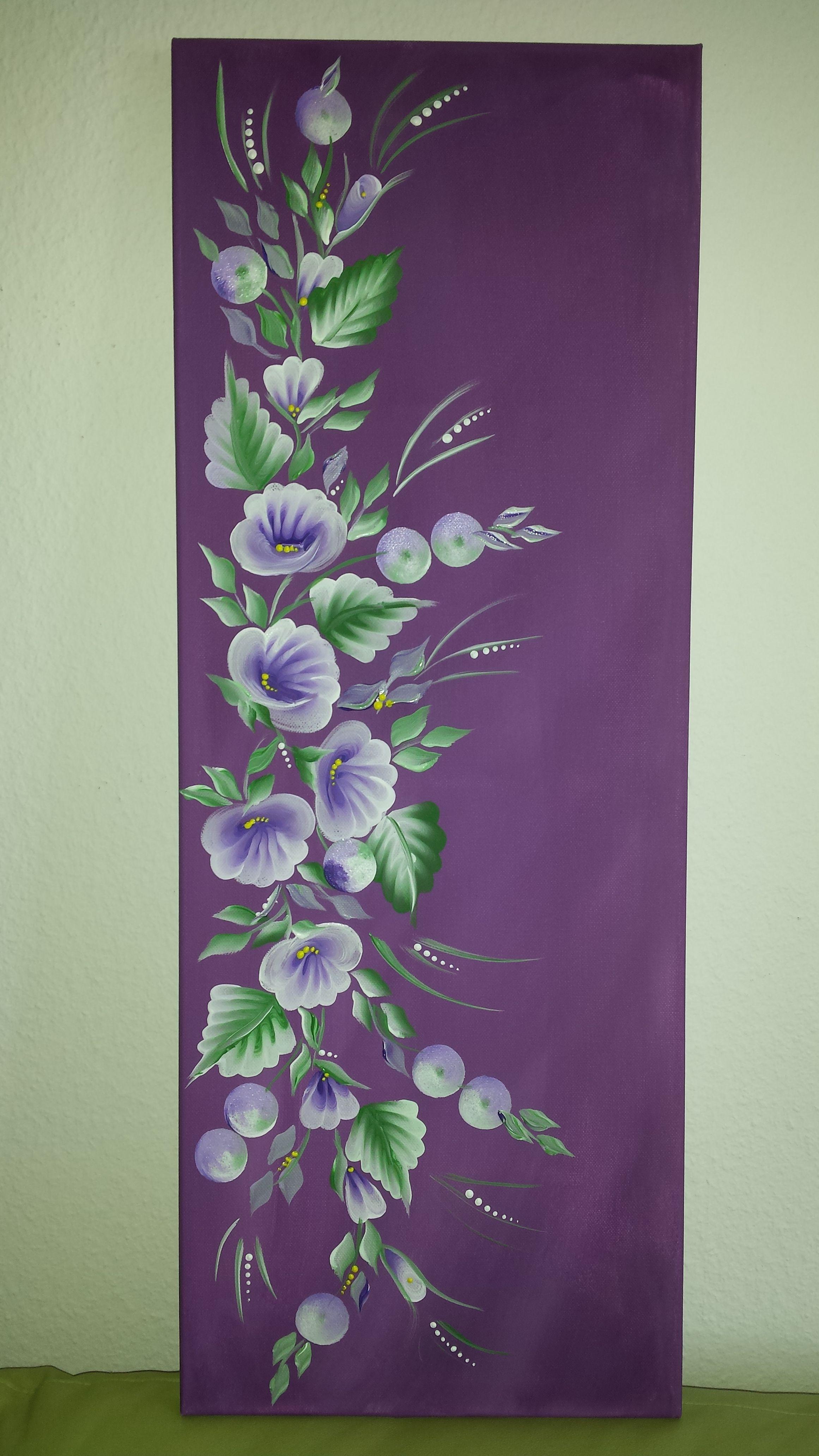 one stroke purple
