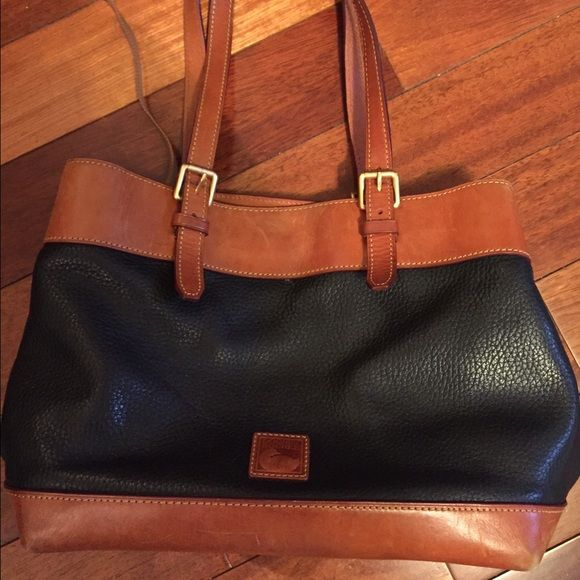 authentic Dooney and Bourke handbag Really good condition, blue and brown. Price is negotiable :) Dooney & Bourke Bags Shoulder Bags