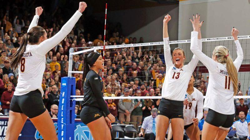 Ncaa Volleyball Balance Key To Minnesota Golden Gophers Run To National Semifinals Women Volleyball Volleyball Pictures Coaching Volleyball