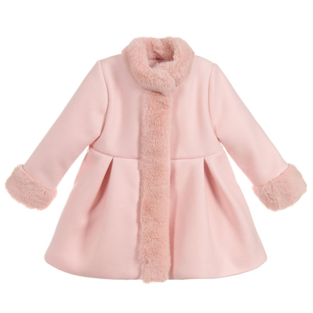 8a8d46d5344c3 Baby Girls Pink Coat for Girl by Patachou. Discover more beautiful designer  Coats   Jackets for kids online