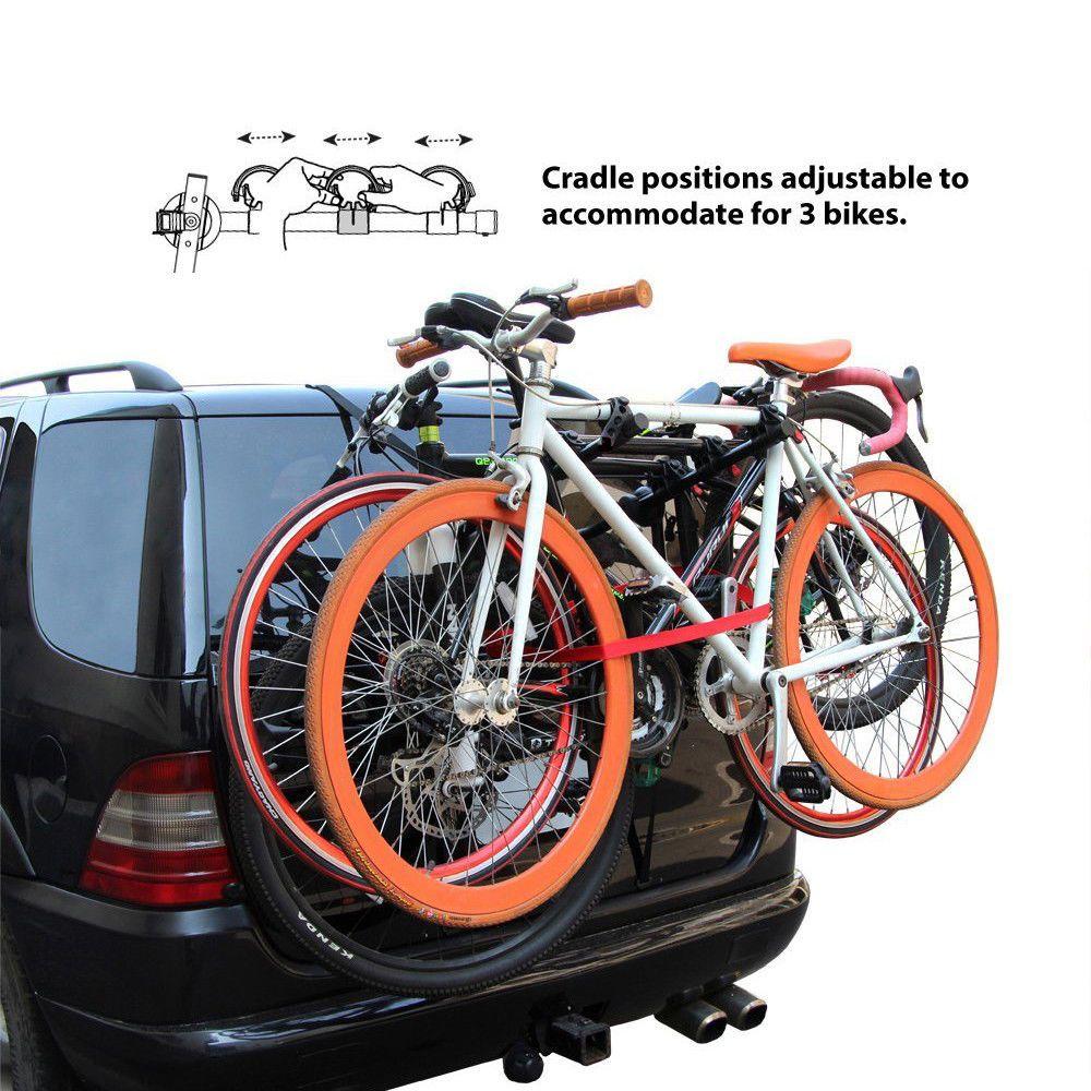 Trunk hitch Bike Mount Rack Hatchback 3 Bicycle Bike Carrier Holder for SUV Car