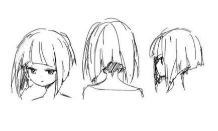 Trendy How To Draw Hair Short Anime Girls Ideas Girl Hair Drawing How To Draw Hair Manga Hair