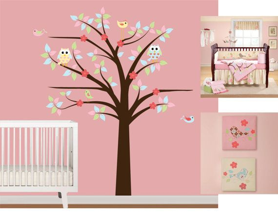 CUSTOM Vinyl Wall Decal Nursery Tree Decal With By NurseryWallArt - Custom vinyl wall decals nursery
