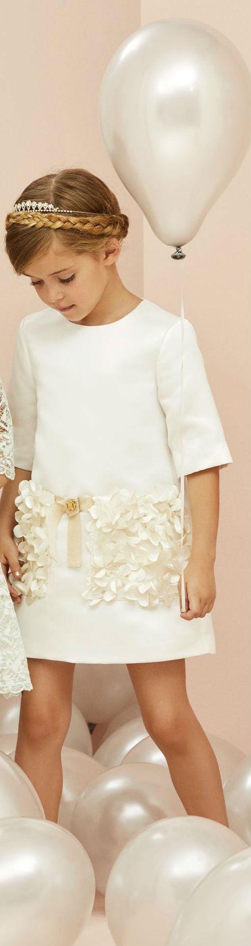 996087d59a98 Roberto Cavalli Junior Girls Cream Floral Embellished Dress Spring Summer  2018.  robertocavalli  kidsfashion  kids  girl  pretty  summer  fashion   style