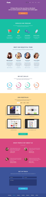 cuda single page portfolio flat design flat flat design