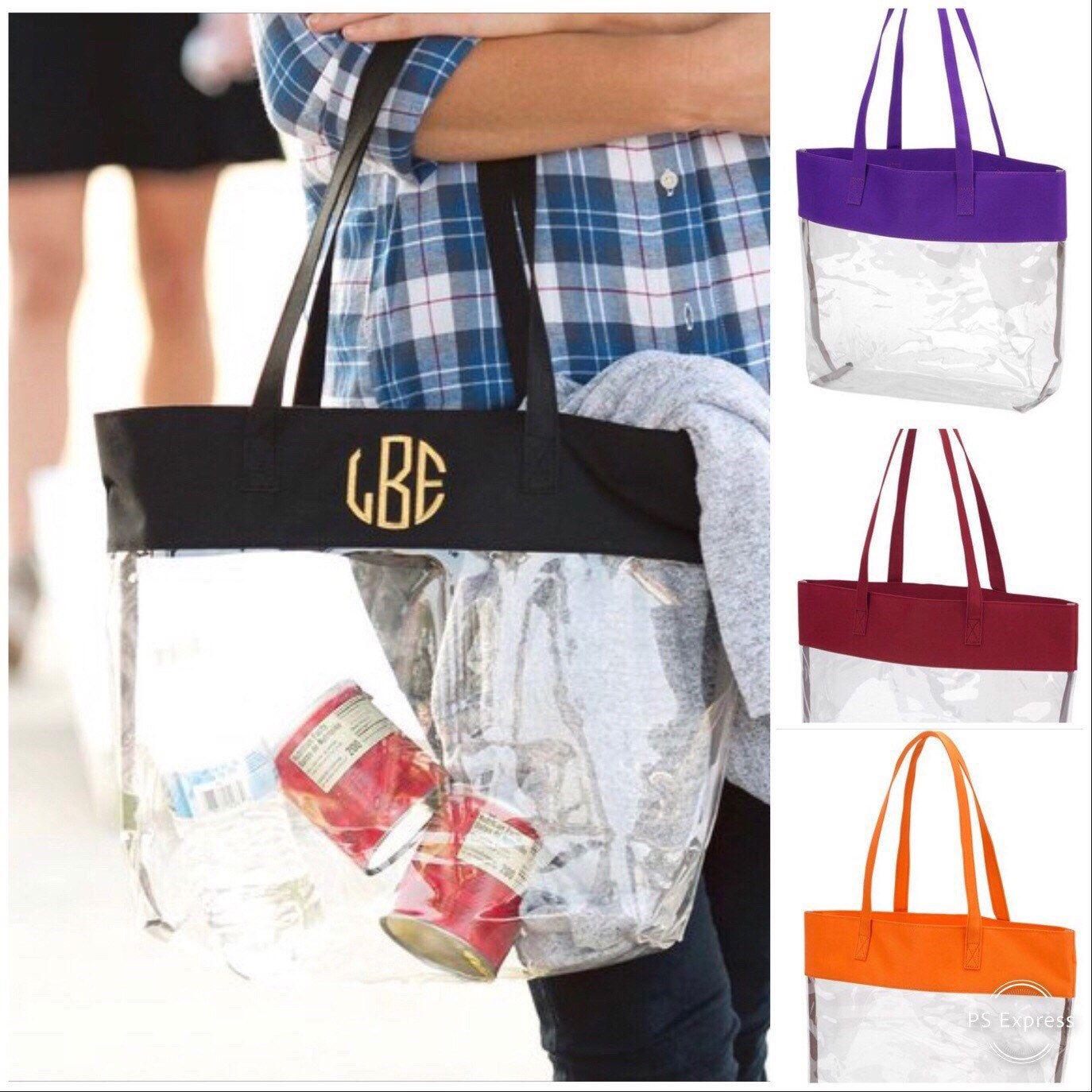 Sporting Event Clear Purse Stadium Tote Festival Policy Bag Festival Gift Idea Monogram Clear Stadium Purse Crossbody Bag