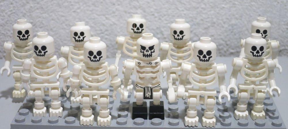 Lego White Skeleton Horse Minifigure like new