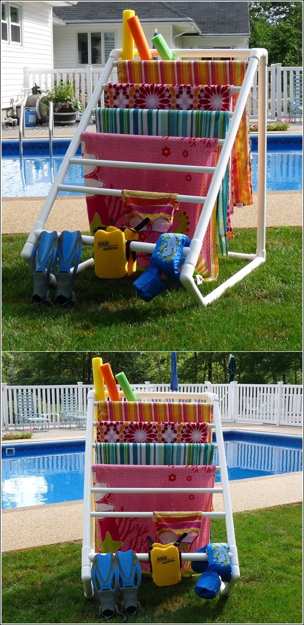 Pool Towel Drying Rack Best I Need To Make This Pvc Pipes Drying Rack Plans Instructions Http Design Ideas