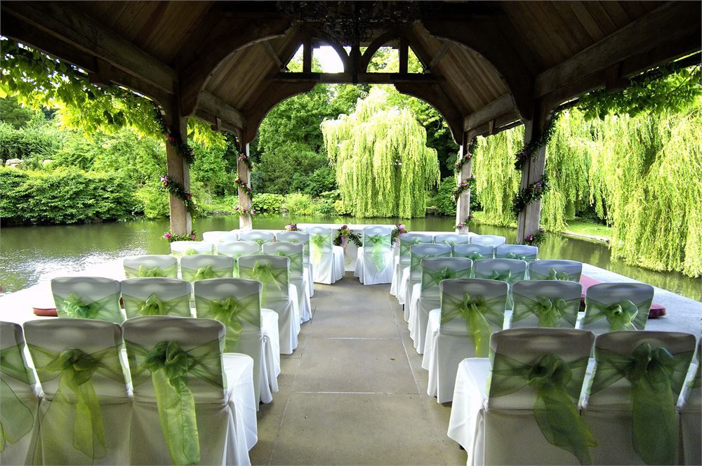 Outdoor Wedding Ceremony At The Dairy At Waddesdon Manor