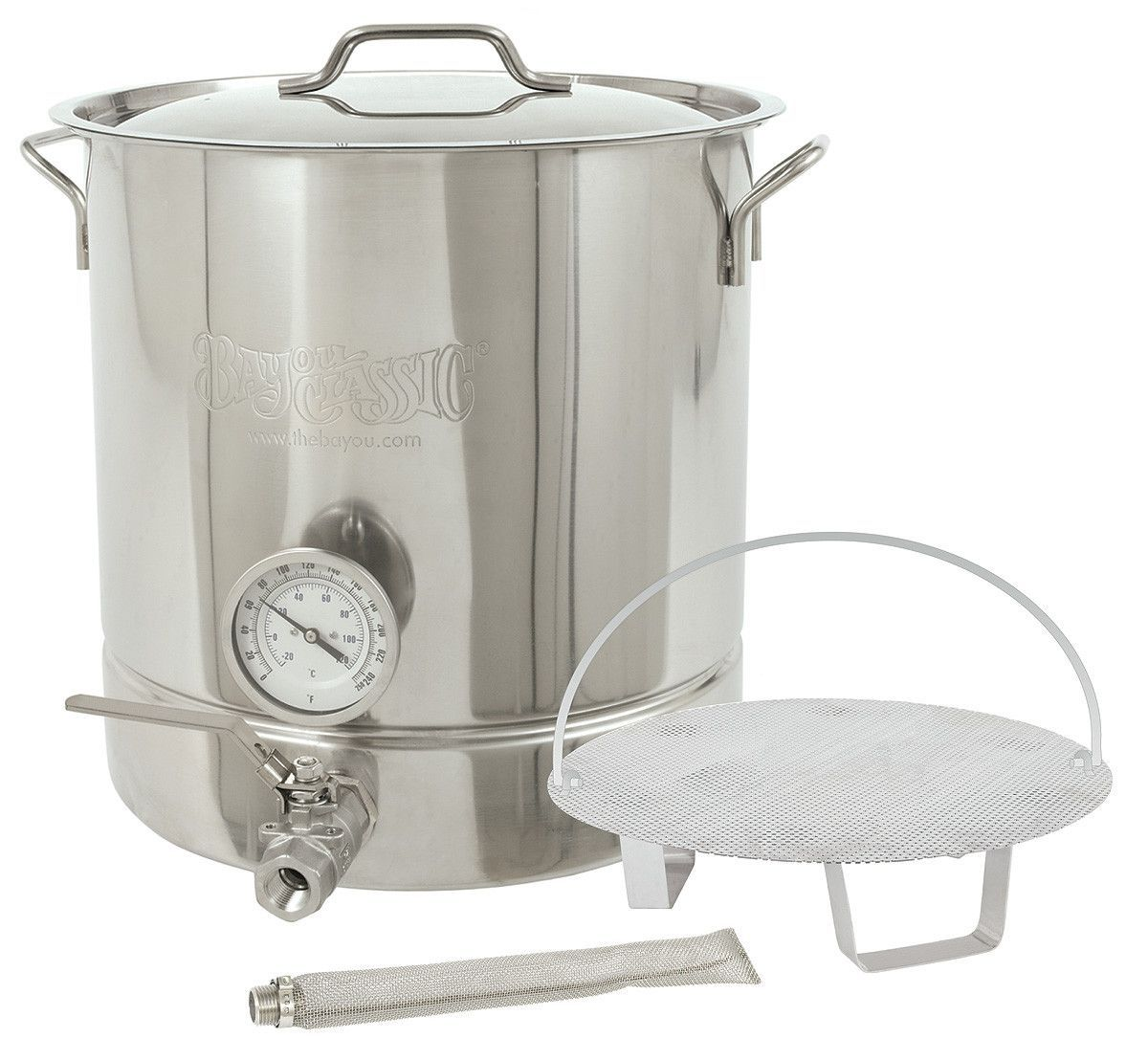 Bayou Classic Six Piece 16 Gallon Stainless Steel Home Brewing Brew Ke Home Brewing Stainless Steel Kettle Brewing Equipment