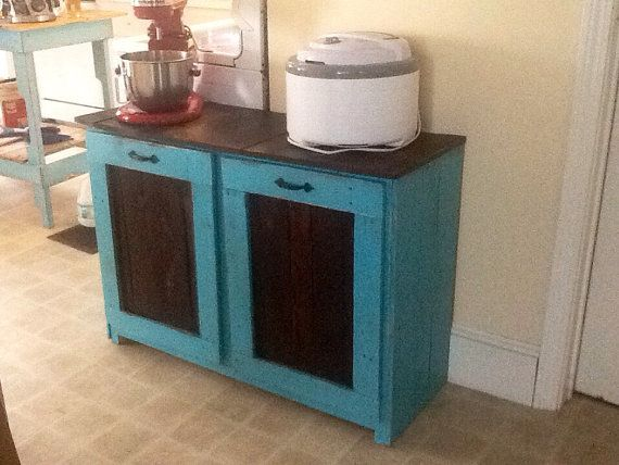 rustic country cottage recycling trash center bin by. Black Bedroom Furniture Sets. Home Design Ideas