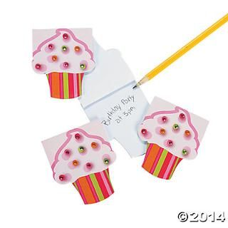 Cupcake notepads for party bags