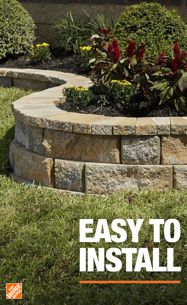 Easy To Install Concrete Garden Front Yard Landscaping Landscaping Retaining Walls