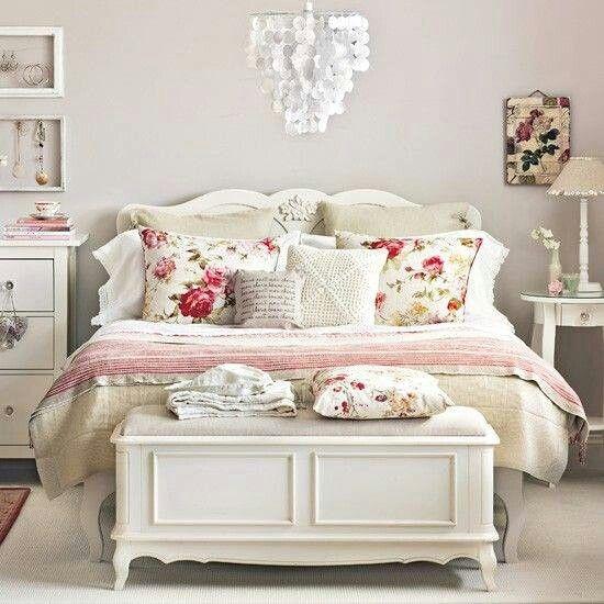 Shabby Chic Sillones Pinterest Dormitorio, Recamara y Decoración - decoracion recamara vintage