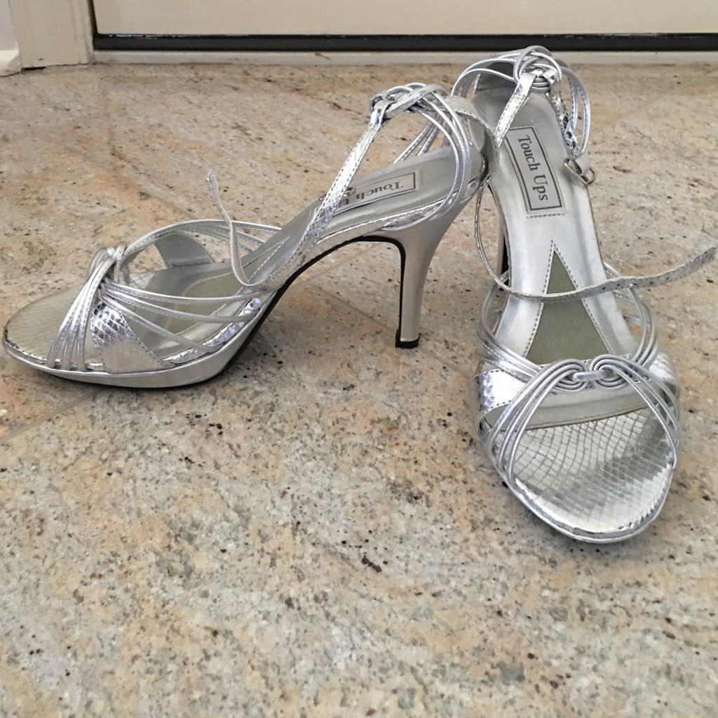 8f41b823806 Touch Ups Silver Heels