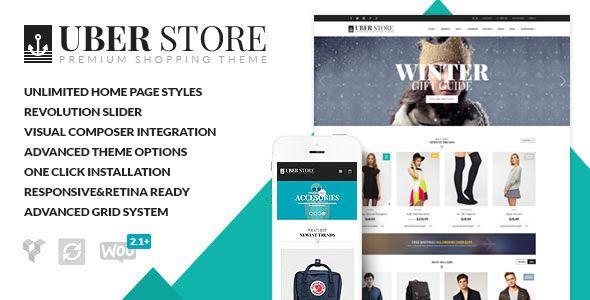 UberStore v3.3.0 – Responsive E-Commerce Theme | Template | Pinterest