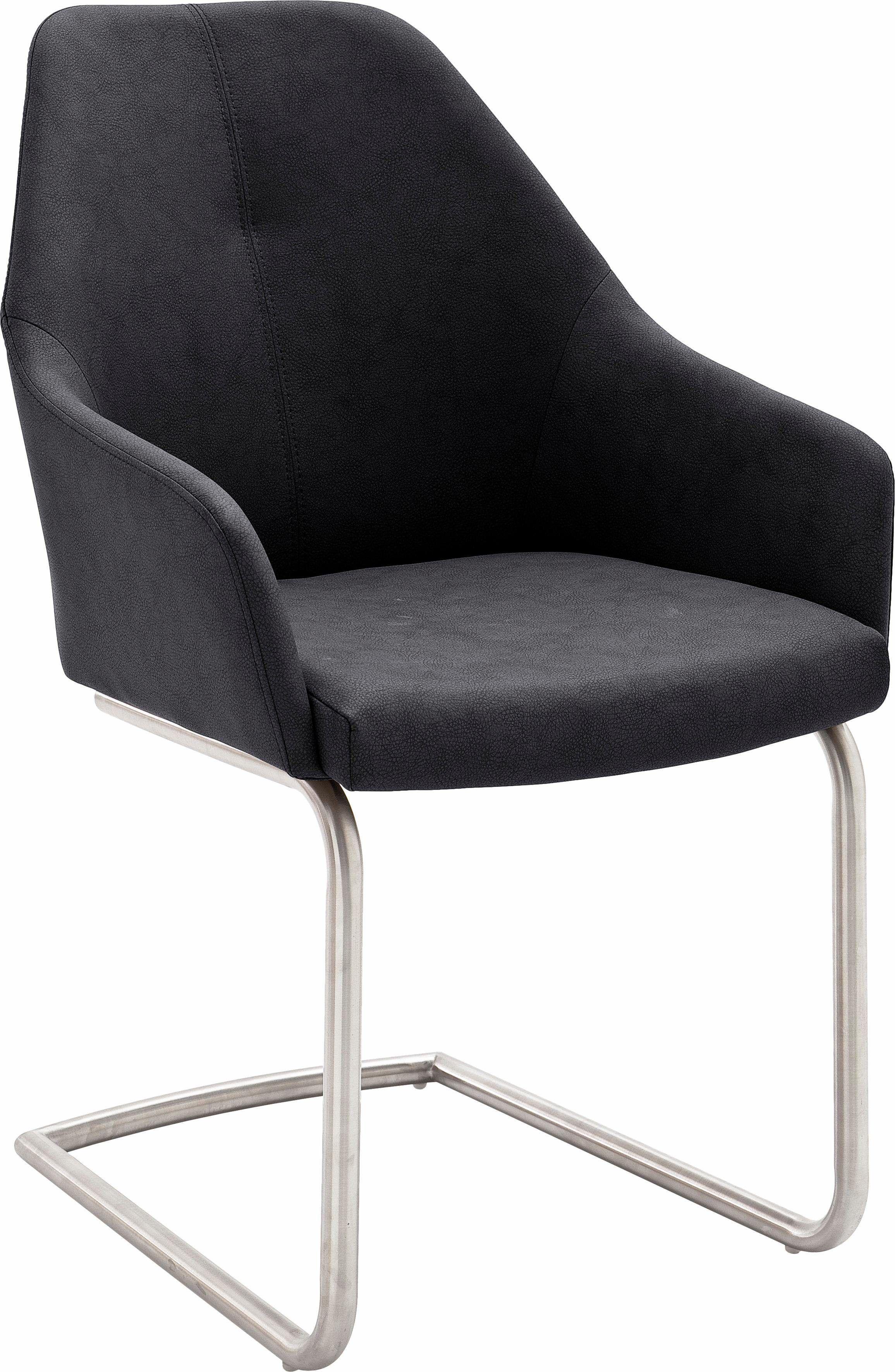 Stühle (2 Stück) grau, Schwinger, pflegeleichtes Kunstleder ...