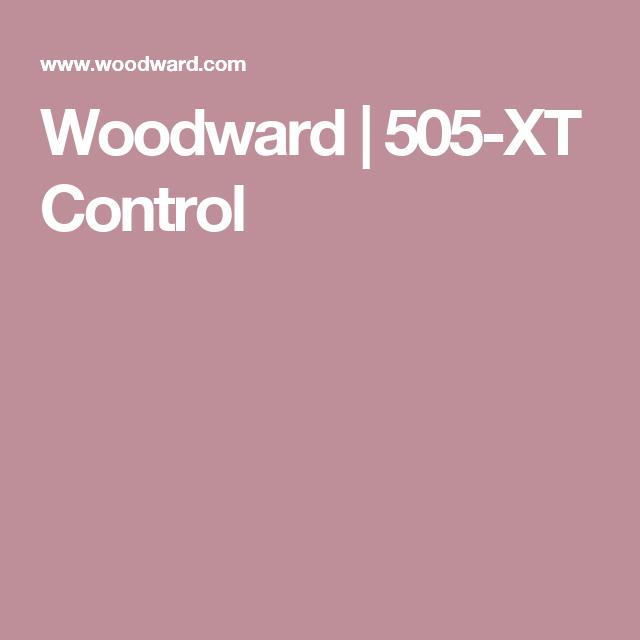 Woodward | 505-XT Control | STEAM TURBINE PRIME MOVER