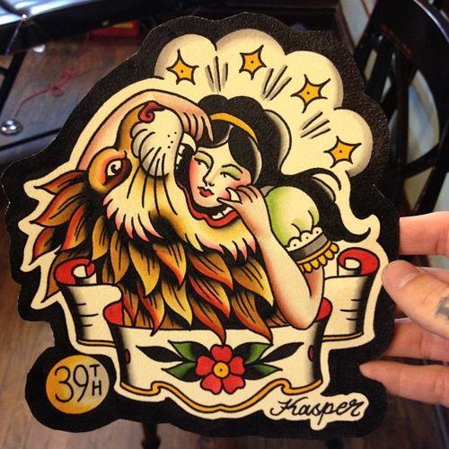 Tin Sign Fun Ravtive Tattooed Greek circus