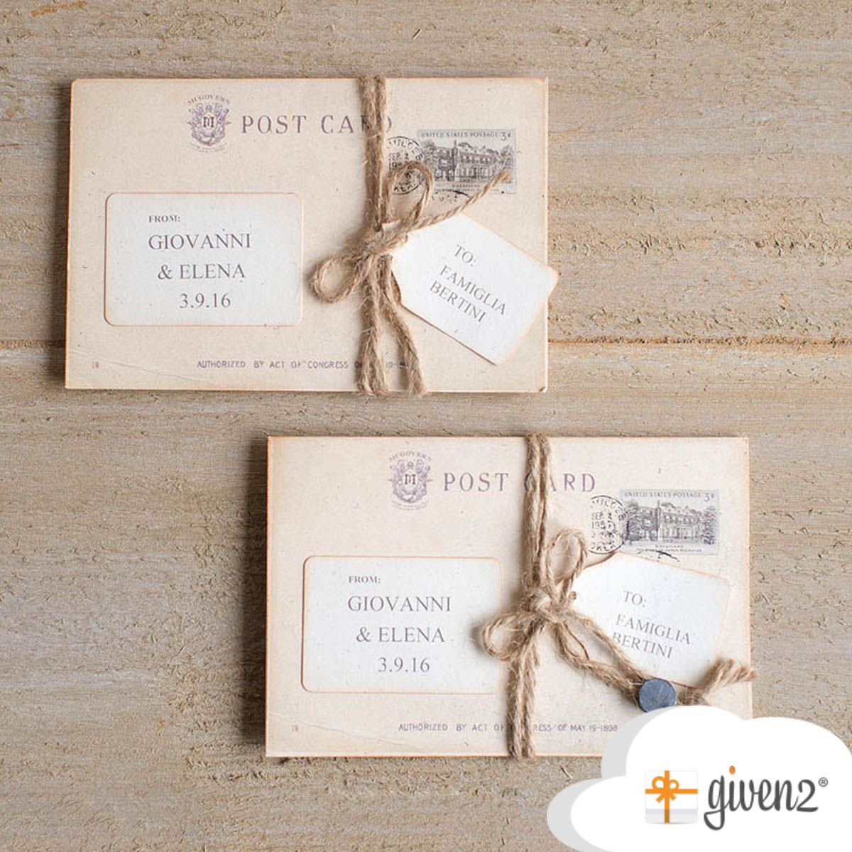 The wedding invitations, considered by some to be very