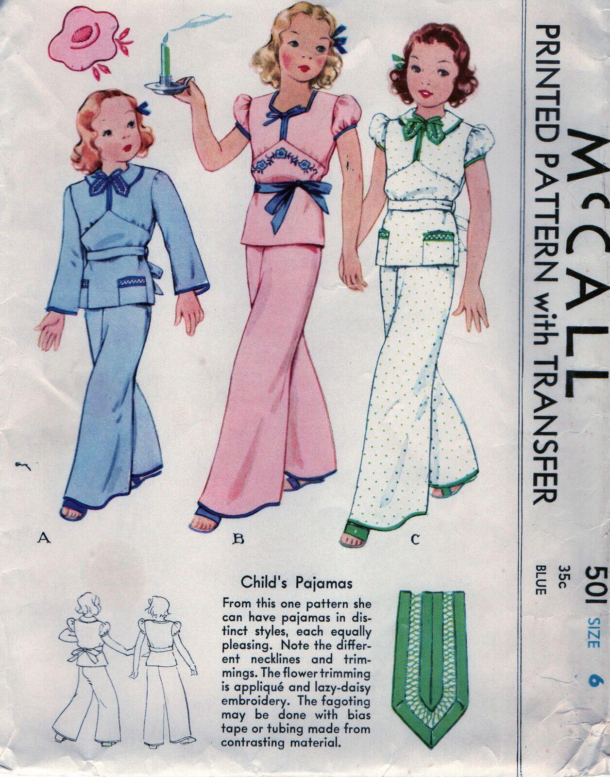 Childs pajamas 1930s sewing pattern design inspiration childs pajamas 1930s sewing pattern jeuxipadfo Choice Image