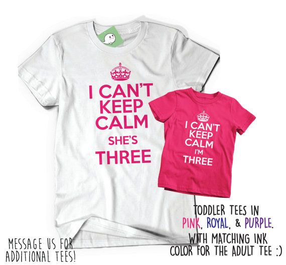 Set Of Two Soft Birthday Tees T Shirt Tee Bday I Cant By BoooTees