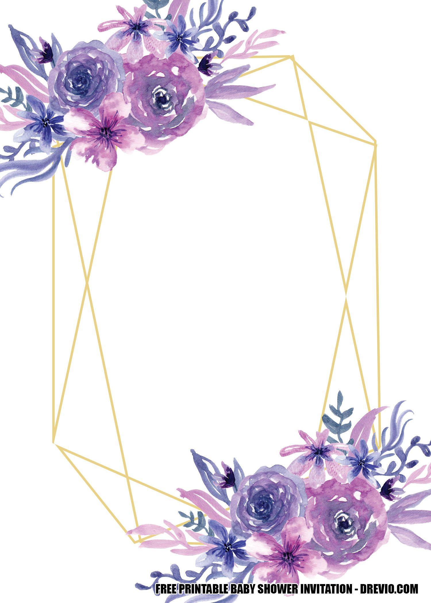 FREE Lavender Rose Wedding Invitation Templates  DREVIO  Rose
