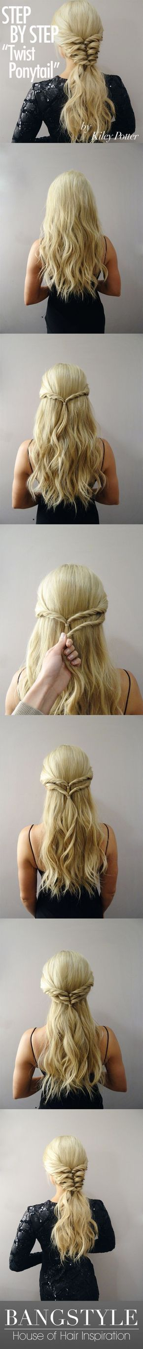 Photo of Get the Look! Twist Ponytail Tutorial by Kiley Potter – Bang…