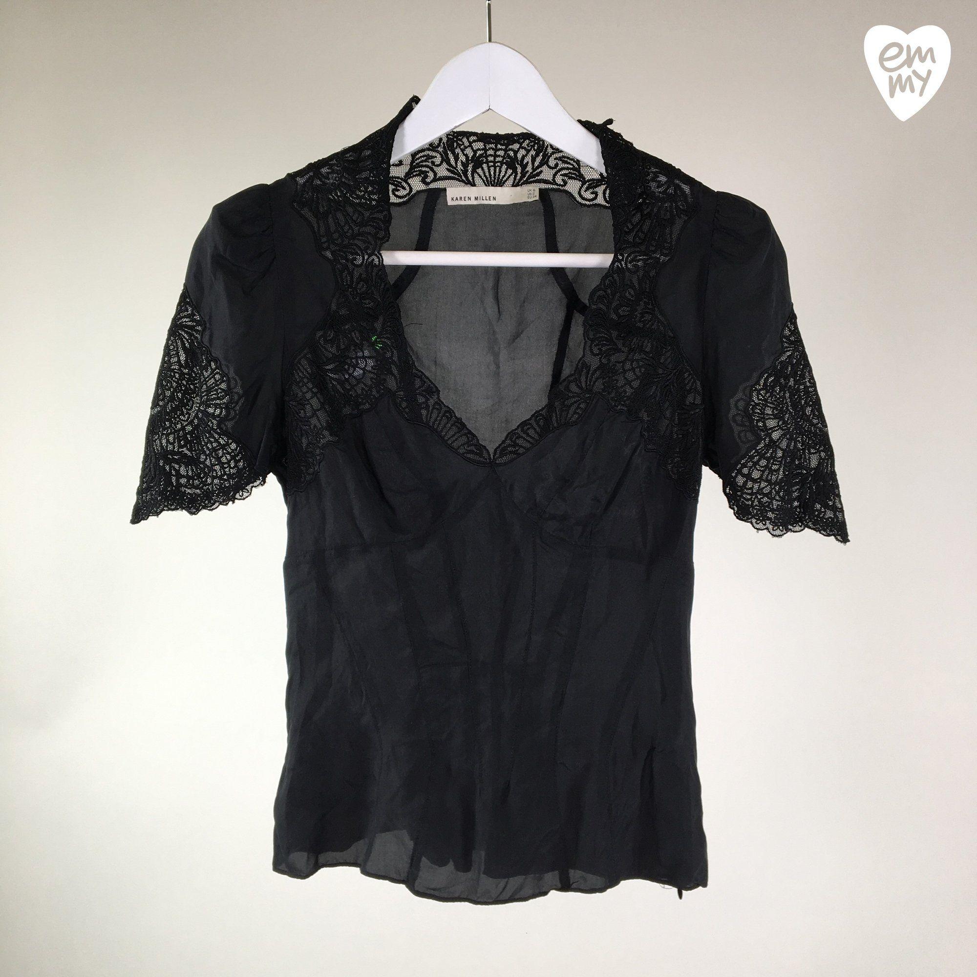 Karen Millen T-paita – Koko 34 (Naiset) – Kunto hyvä – (34.90 ... d7ea670f82