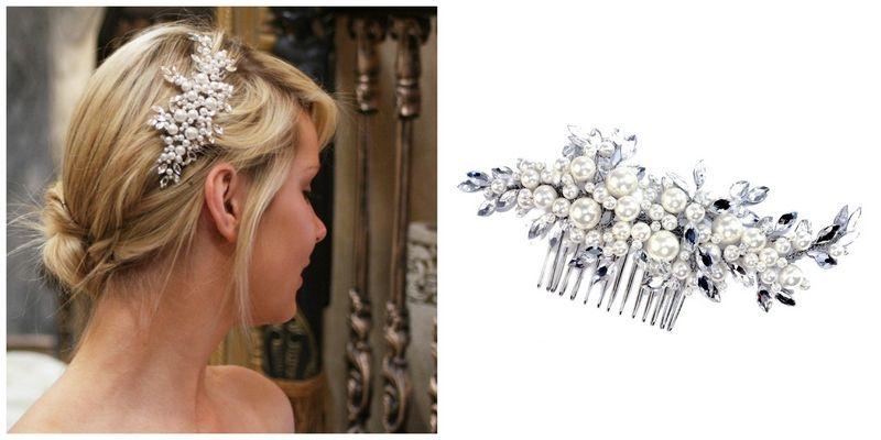 Pearl Vintage Wedding Hair Comb