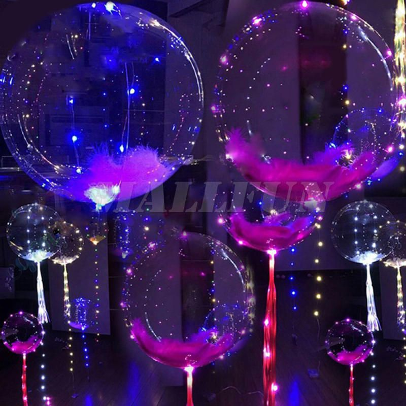 Led Balloons Light Up Birthday Party Decorations Wedding Happy