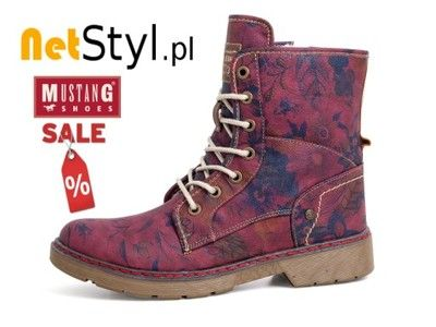 Kozaki Buty Trapery Mustang Damskie Obuwie Roz 38 6720570313 Oficjalne Archiwum Allegro Boots Combat Boots Shoes