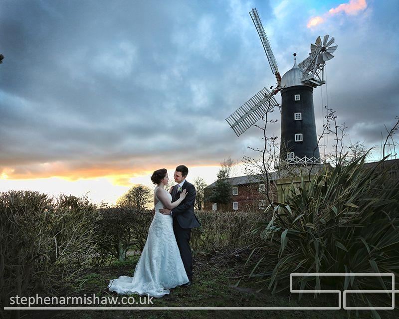 Beautiful evening wedding photography @millhouseskidby captured by ...
