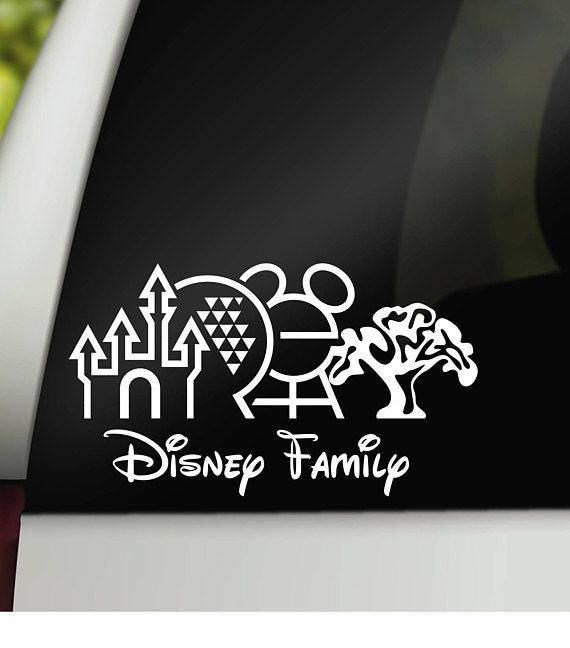 Disney family decal family car decal car family decal disney car decal disney parks decal family car sticker disney car sticker family car decals