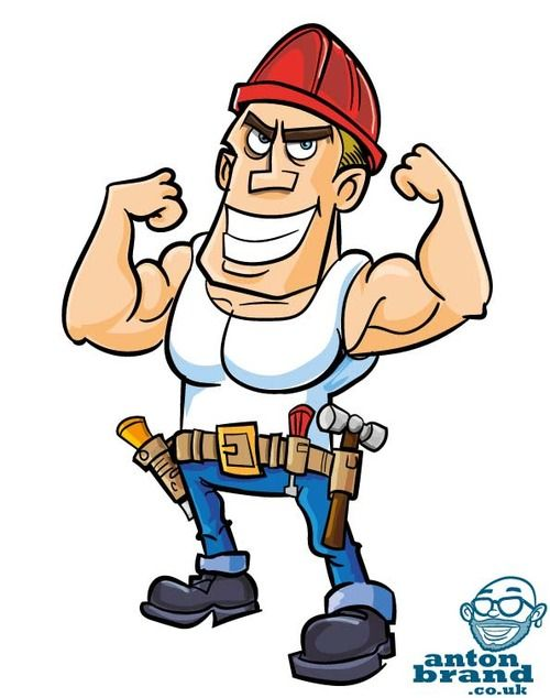 Cartoon Construction Worker With Images Cartoon Emoji Love