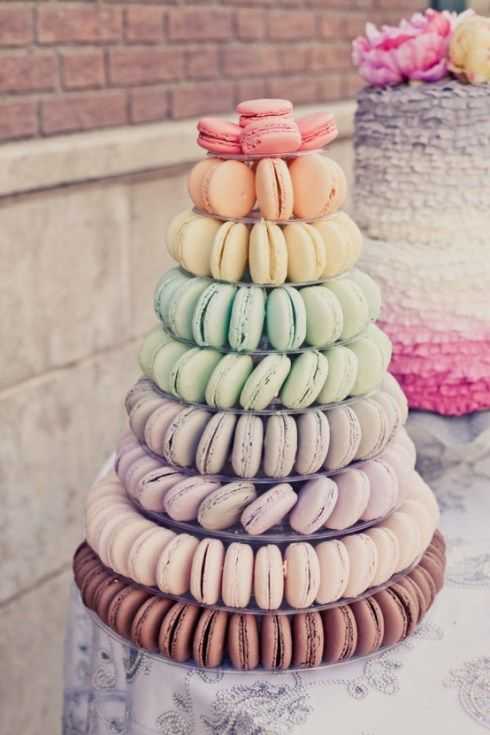 Colorful Macaroon. Candy bar / sweetie table ideas