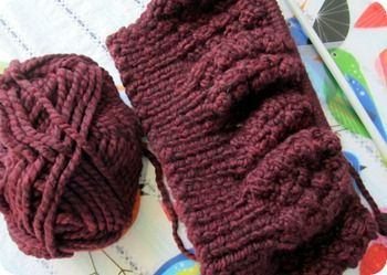 Hat with straight needles | Straight Needle Knitting