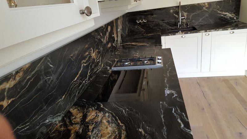 Die # Granit Belvedere # Rückwände verleihen dieser - arbeitsplatte küche granit