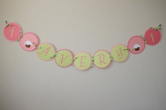 birthday name banner 1st Birthday Party Pinterest Banners