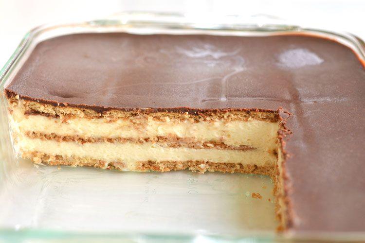 노 베이크 초콜릿 에끌레어 케이크