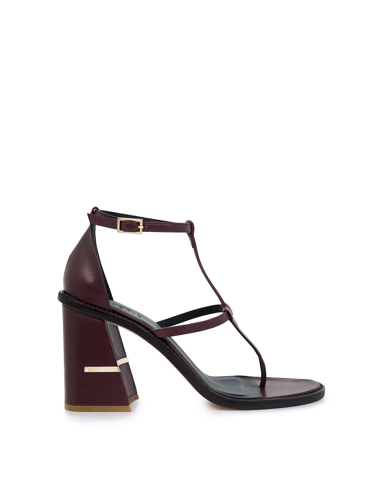 0a48466ebffe The Chloe sandals from Tibi features an updated angular block heel with a  shiny…