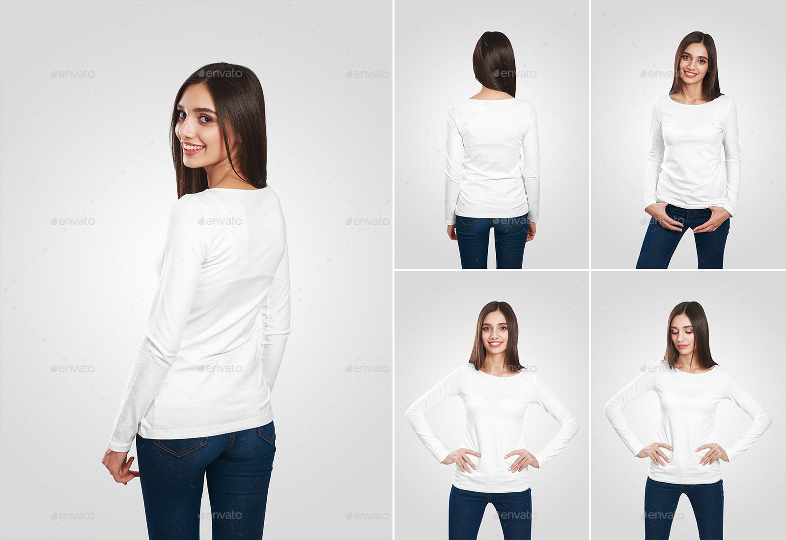 Download Female Long Sleeve T Shirt Mockups Long Female Sleeve Mockups Shirt Mockup Long Sleeve Tshirt Tshirt Mockup