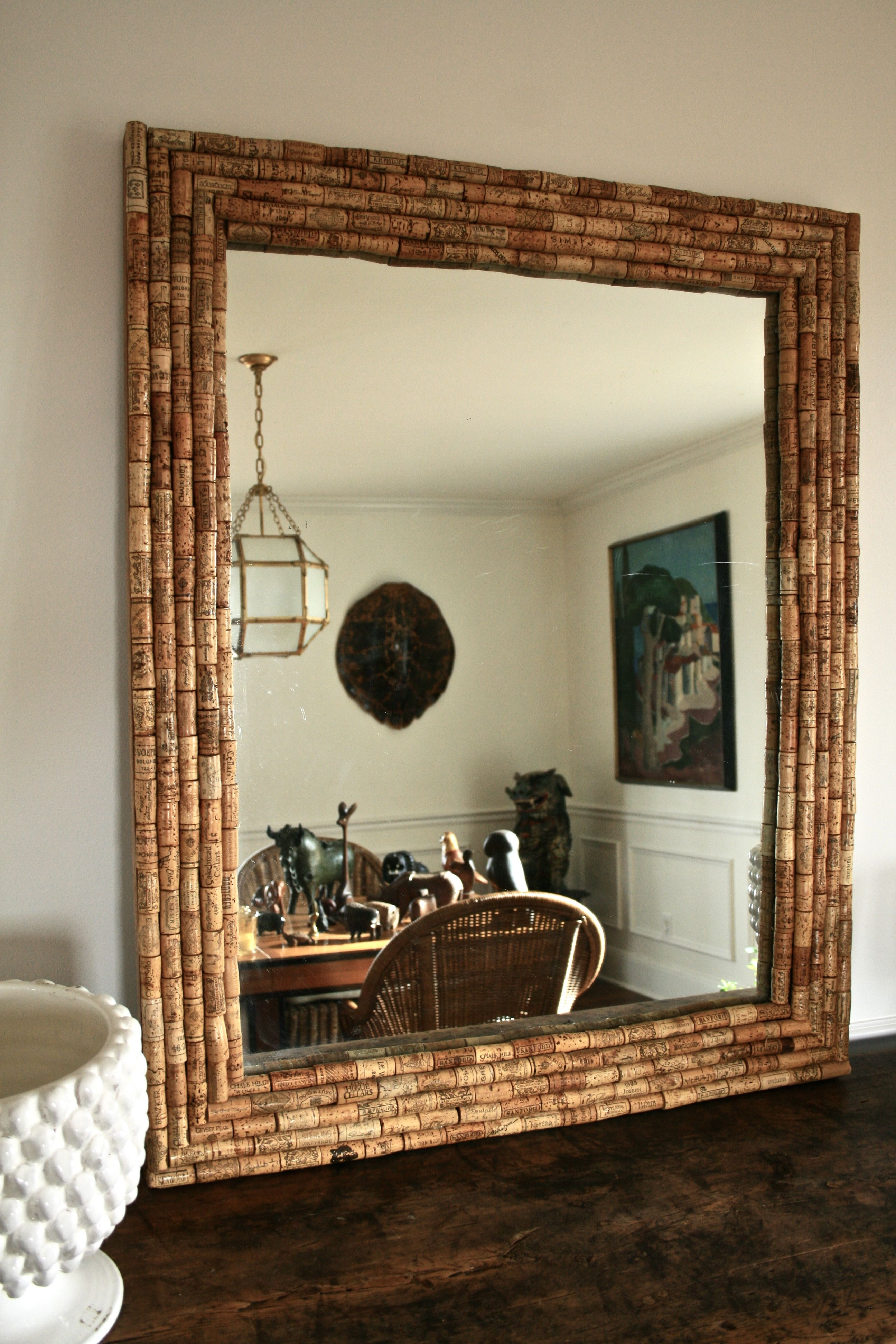 Wine Cork Mirror For Living Room In 2020 Living Room Mirrors Decor Home Decor #oversized #mirrors #living #room