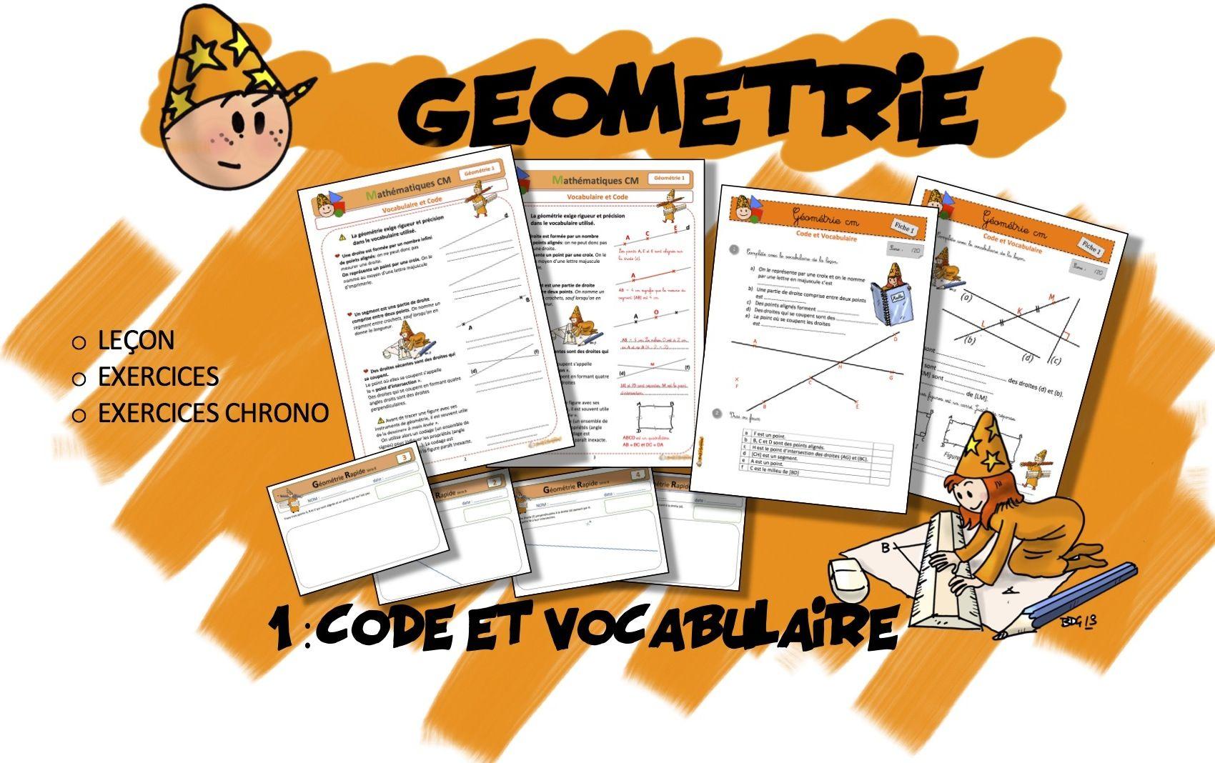 CM Géométrie 1 : Code et Vocabulaire - Bout de gomme ...