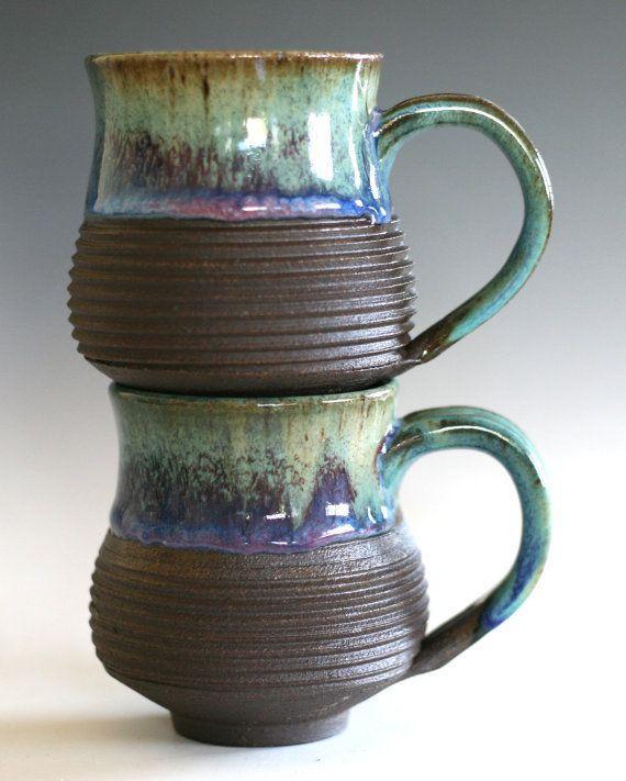 Pair Of Coffee Mugs Handmade Ceramic Cups Tea Cups