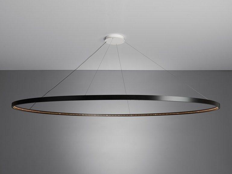 suspension led en acier pour clairage direct indirect omega 200 by le deun luminaires home. Black Bedroom Furniture Sets. Home Design Ideas