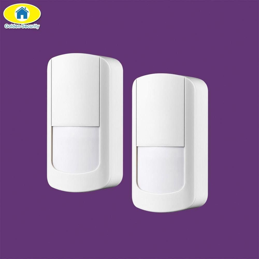 Golden Security 2pcs 433mhz Wireless Pir Sensor Motion Detector For S5 G90b Plus Home Security Alarm System Wireless Home Security Systems Home Security Alarm