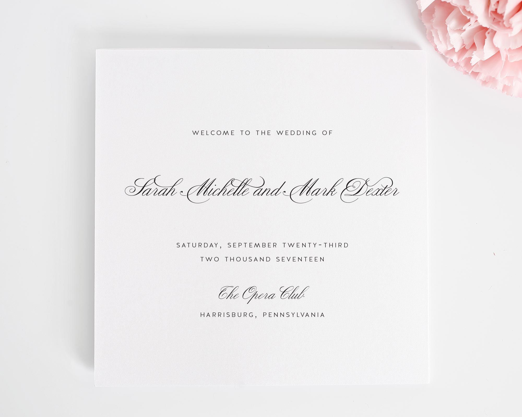 Flowing Calligraphy Wedding Invitations | Shine wedding invitations ...