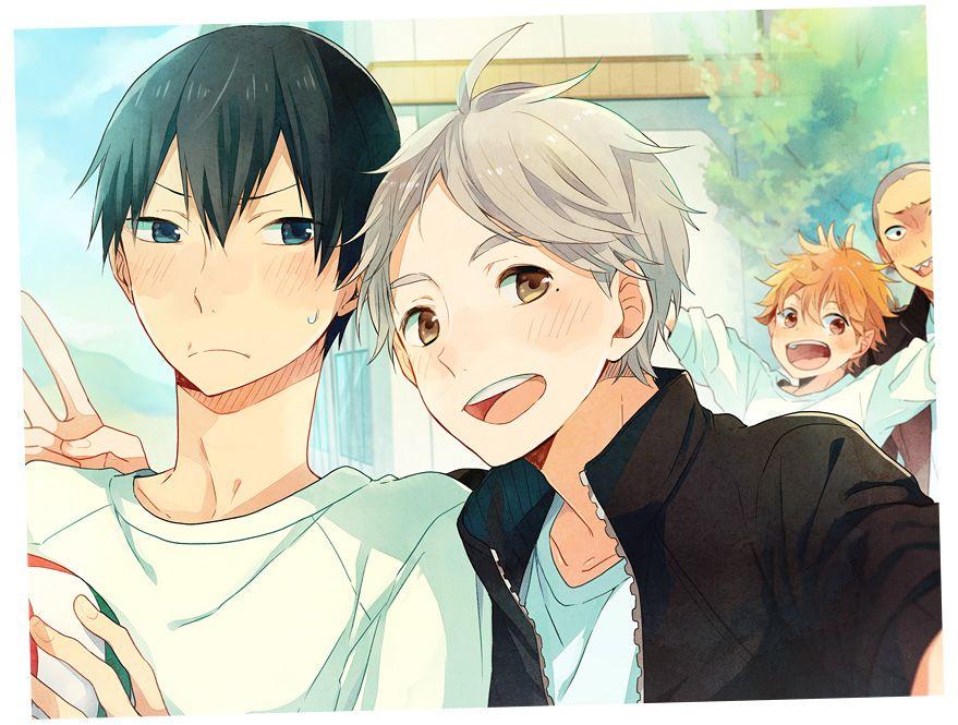 Two beautiful setters (and Tanaka and Hinata)